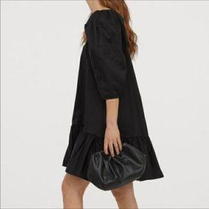 H&M PUFFY SLEEVES BLACK DRESS
